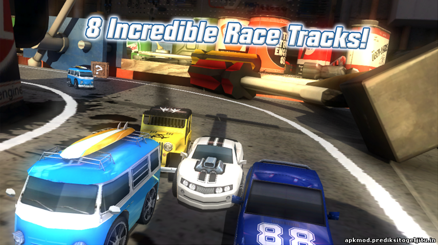 Table Top Racing MOD APK+DATA , Unlimited Gold Coins